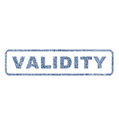 Validity textile stamp vector