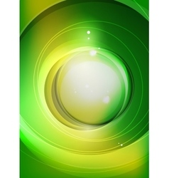 Green swirl pattern abstract background vector image