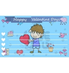 Romance theme valentine greeting card vector