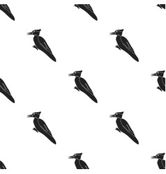 Woodpecker icon in black style isolated on white vector