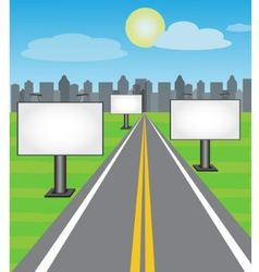 Road boards vector