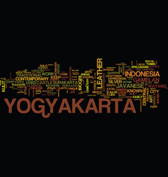 Legends of yogyakarta text background word cloud vector