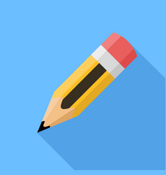 pencil flat design icon vector image