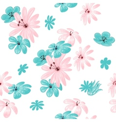 Flower seamless pattern for print vector image