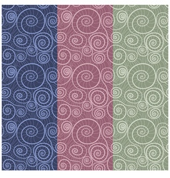 Seamless pattern for textile vector