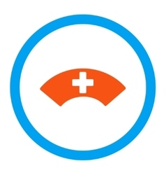 Medical visor rounded icon vector