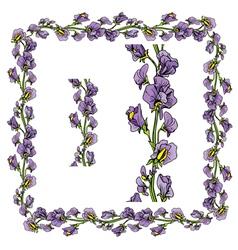 flower frame 2 380 vector image
