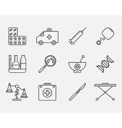 Icon Set of Medical styled signs symbols vector image