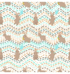 Cute seamless pattern with rabbit vector