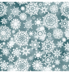 blue christmas background with snowflake eps 8 vector image