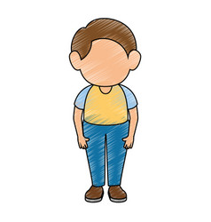 Boy stand up vector