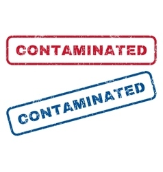 Contaminated rubber stamps vector