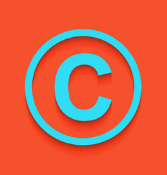 Copyright sign whitish icon vector