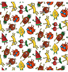 crazy fruit pattern vector image
