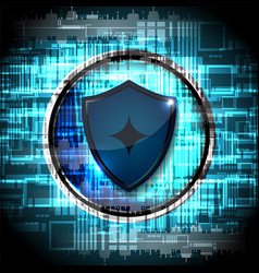 cyber security shield guard vector image vector image