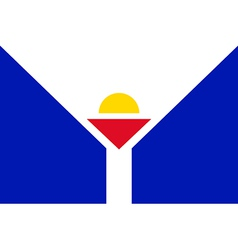 Flag of Saint Martin vector image