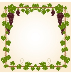 Grape square frame vector image