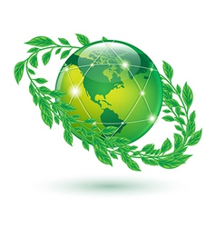 leaf earth vector image