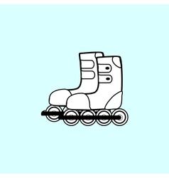 Pair of roller skates sports hobbies vector
