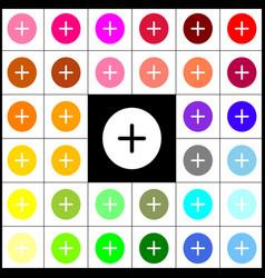 Positive symbol plus sign felt-pen 33 vector