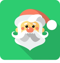 Santa claus face icon flat design vector