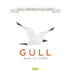 Seagull low poly polygon logo vector image vector image