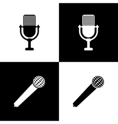 Set of microphones vector image