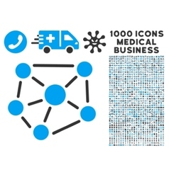 Social Graph Icon with 1000 Medical Business vector image