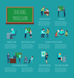 Teaching profession infographics vector