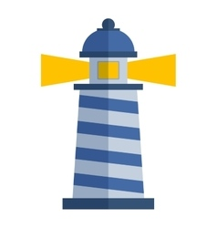 cartoon flat lighthouse vector image