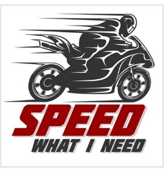 Sport motorcycle graphic for t shirt vector