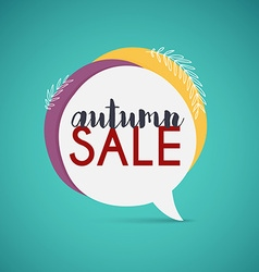 Autumn sale banner poster flyer vector