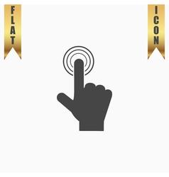 Click hand icon pointer vector