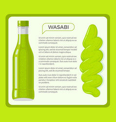 Wasabi sauce framed banner with text vector