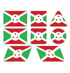 Buttons with flag of burundi vector