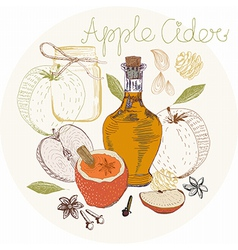 Apple Cider background vector image