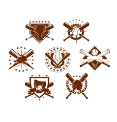 Baseball emblems set vector