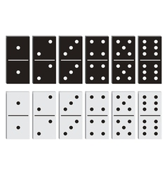 Domino black and white set vector
