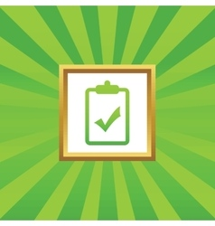 Clipboard yes picture icon vector