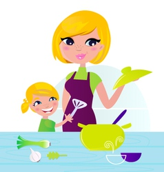 mother with child vector image