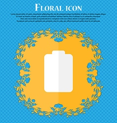 Battery empty low electricity floral flat design vector