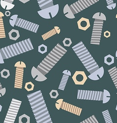 Technical seamless pattern bolts and nuts vector