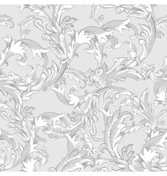 Vintage baroque seamless pattern with swirls vector image