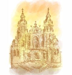 Santiago de compostela vector
