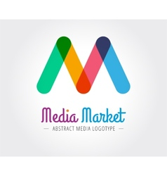 Abstract m character logo template for vector