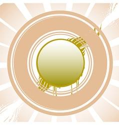 Abstract Sun Design vector image vector image