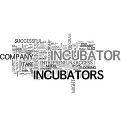 Are startup incubators right for you text word vector
