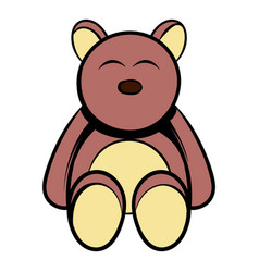 Baby bear icon cartoon vector