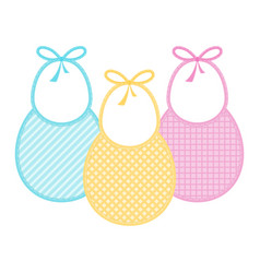 baby bib set isolated vector image
