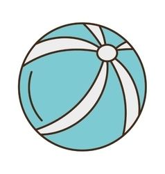 balloon beach isolated icon vector image
